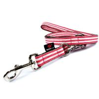 Hundeleine Stripes - verstellbar, pink