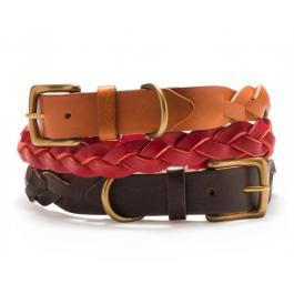 Hundehalsband Leder - Braided Leather