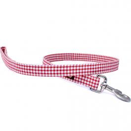 Hundeleine - Red Gingham