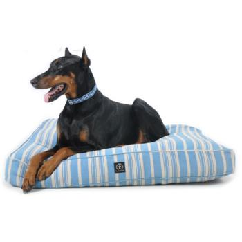 Hanf-Hundebett New Hampshire - hypoallergen - orange, blau