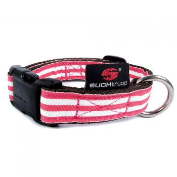 Hundehalsband Stripes - Red Shades - pink, rot