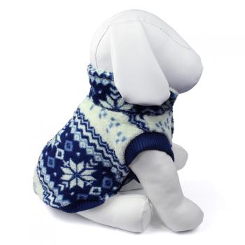 Hundepullover aus Fleece - Winterblues - 17 cm